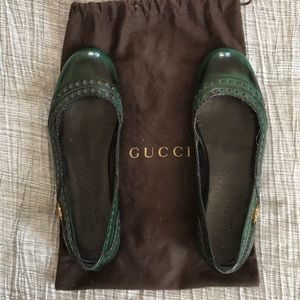 Gucci ballets, size 37. In great condition!!